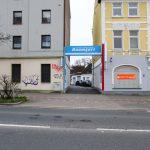 Baumgart Einfahrt an der Hermannstrasse
