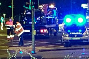 Auto Bergung nach einem Unfall