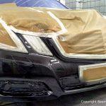 Autolackierung einer Frontschürze Mercedes E-Klasse