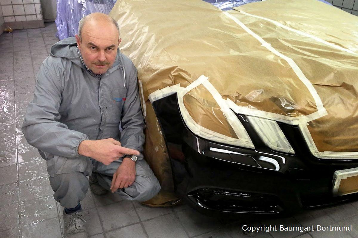 Autolackierung einer Frontschürze mit Norbert Baumgart