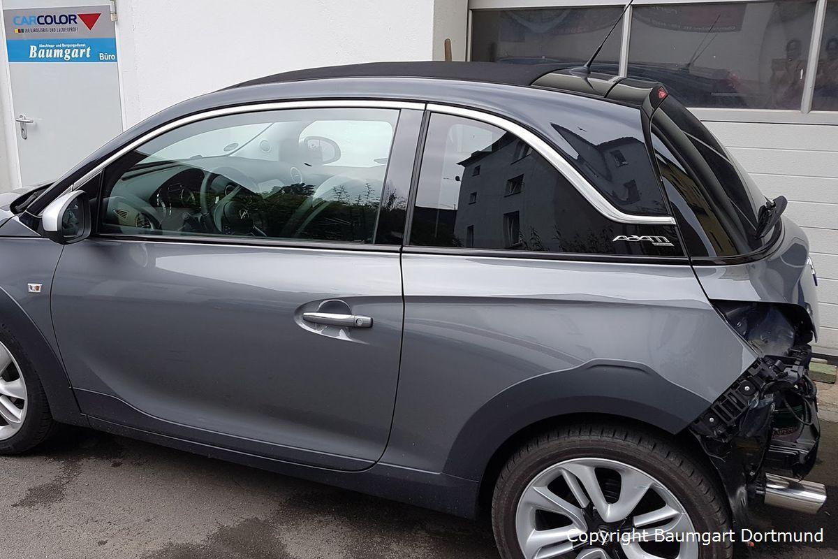 Vorarbeiten am Opel Adam