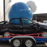 Autotransport von Autokunst zur Ruhr 2022