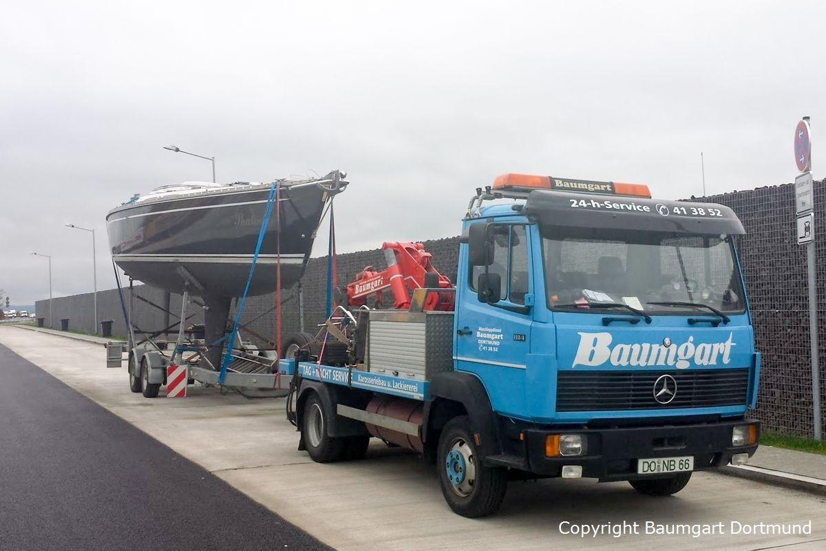 Yachttransport zum Gardasee